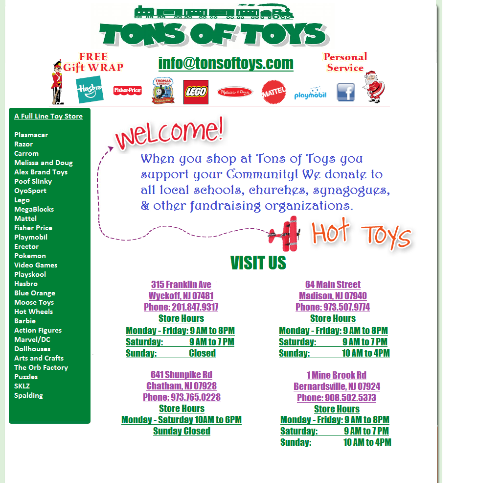 Tons of Toys - Wyckoff NJ